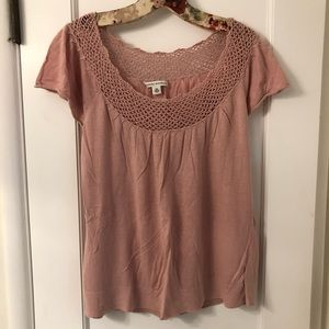Banana Republic Knit Pink Blouse